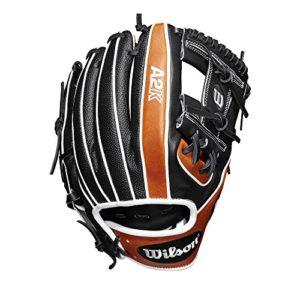 WILSON Sporting Goods 2019A2K 1786Champ Intérieur Gant de Baseball–Main Droite Couvre-lit Noir/cuivre/Noir SuperSkin, 29,2cm