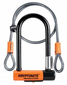 Kryptonite Evolution Mini-7 Serrure avec câble et support flexibles – Orange, 7 pouces