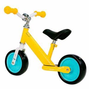 LPsweet Balance des Vélos pour Enfants, 1-4 Ans Nourrisson De Tout-Petits Walker Scooter Léger Pas Pédale De Formation Vélo, Vélo Réglable Équilibre,Jaune