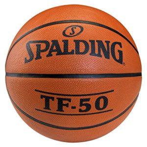 SPALDING – TF50 OUTDOOR SZ.7 (73-850Z) – Ballons de basket NBA – Touché et Contrôle améliorés – Matière Durable – orange