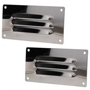 2 pièces 127mm x 66mm en acier inoxydable petit évent horizontal