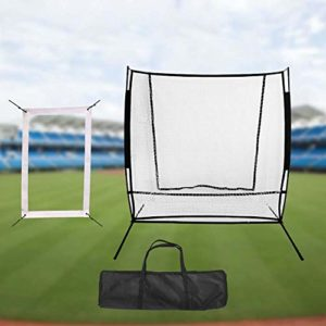 2×1.85M Baseball and Softball Pitchback Rebound Net, Baseball Pitching and Fielding Trainer, Multi-Sport Filet Pitch arrière d'écran