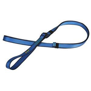 22KN Réglable Sangle Sécurité d'Escalade Arboriculteur Corde en Polyester de Haut Résistancité – Bleu, 130cm