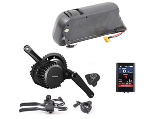 36V 250W Bafang BSS02B Mid Crank Drive Motor Conversion Kits with LCD-TFT850C Color Display + 36V 11.6AH Down Tube ATLAS Frame Case Panasonic Cell Battery with 2A Charger