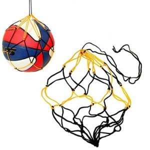5 x milopon Basketball Football Épaisseur poche filet noir et jaune Mesh Ballon Sac en nylon