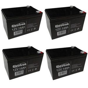 6DZM – Lot de 4 batteries rechargeables au plomb, utilisation cyclique, 12V, 14Ah, pour vélo électrique