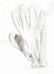 – Gant de batteur de cricket-Doublure coton-Blanc-Fullfinger adultes
