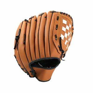 9.5inch Gant De Baseball Softball Gants Main Droite Throw Cuir Synthétique Extérieur Maître Gant De Baseball pour Les Adultes Et Les Jeunes Brown 1pc
