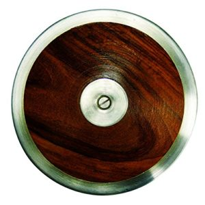 AAG Athletic Club Wooden Track Throw Training Discus for Track and Field 1.25kg