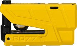ABUS 8077 2.0 Bloque-Disque Alarme Moto Homologué SRA, Jaune
