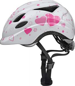 ABUS Anuky Casque Vélo Enfant White Heart Taille M 52-57 cm