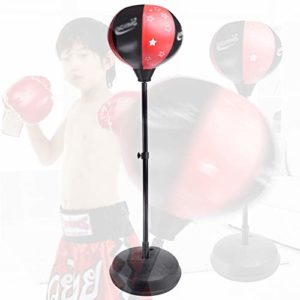 ACOMDSS Vertical Enfant Boxe Speed ​​Ball, Tumbler Home Fitness Equipment, Sandbag Fitness Boxe Vent Ball, Décompression Artefact, Noir Rouge