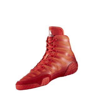 adidas Adizero Varner Lutte de Chaussures, Noir Real/Blanc/, 4m avec Nous – – Rouge/Argenté, 14 D(M) US EU