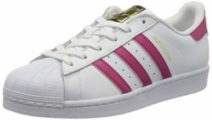 Adidas B23644, Chaussures de basketball Fille, Blanc – Weiß (Ftwr White/Bold Pink/Ftwr White), 36