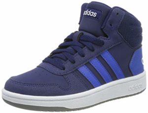 adidas Hoops Mid 2.0 K, Chaussures de Basketball Mixte Enfant, Multicolore (Azuosc/Azul/FTW Bla 000), 32 EU