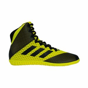 adidas Mat Wizard 4 Men's Wrestling Shoes, Yellow/Black, Size 5.5