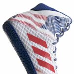 adidas Men's Mat Wizard Hype Wrestling Shoes (9.5, White/Royal/RED)