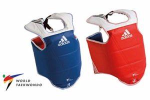 adidas WT Taekwondo Protection de Poitrine pour Arts Martiaux TKD M Bleu