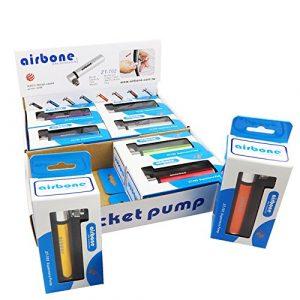 Airbone 2191203090Mini Pompe, Noir, 12x 2x 2cm