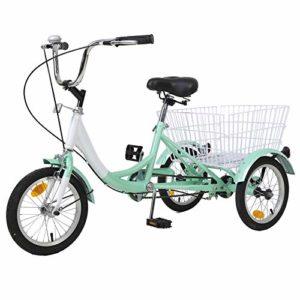 AJ FASHION Panier à Courses à 3 Roues pour Enfant pour Enfant Trike Bike Cruiser Pédale pour Enfant Vélo pour Enfant