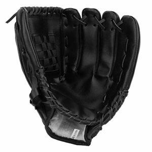 Alomejor Gants de Baseball de Sport Gant de Balle Molle Pichet pour Adultes Enfants(12.5inch-Noir)