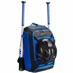 AmazonBasics Sac à dos pour équipement de baseball, Bleu