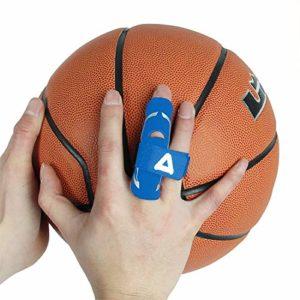 Andux Basketball Finger Gants Protecter Gants Pression Protector 1 Pièce LQHZ-01 (Bleu, S/M)
