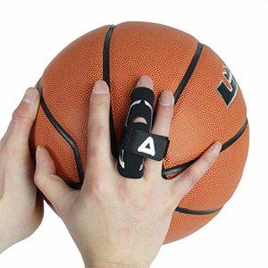 Andux Basketball Finger Gants Protecter Gants Pression Protector 1 Pièce LQHZ-01 (Noir, L/XL)