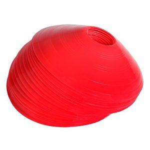 Andux Plots de Marquage Cones de Marquage 24 pièces BZD-01 (Rouge)