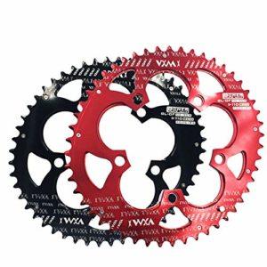 Anneau de vélo simple Roue à vélo ovale à double plateau 110BCD pour vélo de route, vélo de montagne, vélo de VTT BMT 50T / 35T pour vélo de route ( Couleur : Noir , Taille : 110BCD 50T/35T )