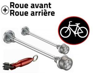 Antivol vélo pour roues de vélo – Kit roues avant et arrière
