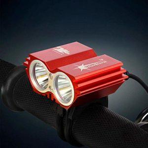 aolongwl Phare de vélo Lampe de Phare imperméable à l'eau 5000 Lumenled Bicycle Bicycle Light Lamp