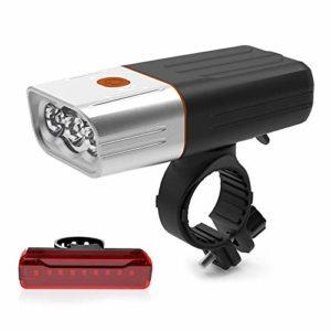 aolongwl Phare de vélo USB Rechargeable Px5 Waterproof LED Headlight As Power Bank
