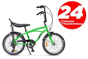 Ape Rider Cruiser Vélo pour Homme et Femme – 20″ Citybike Cruiser 7 Vitesses – Hauteur recommandée 140-170 cm, Mixte, Vert