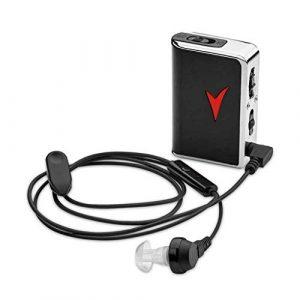 Appareil auditif Amplificateur de Son Personnel – Amplificateur de Voix et amplificateur de Son Personnel pour Un Gain de Son de 58 DB ± 5 DB, de Poche et Assistance auditive pour la télévision et l