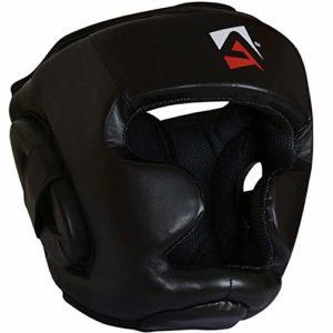 AQF Casque Boxe Protège Tête D'entraînement MMA Muay Thai Protection Faciale Complète D'entraînement Casque De Boxe Protection De Combat
