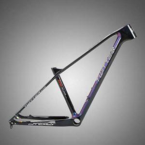 ASDFGG-bike Cadre de vélo de Route Accessoires de Cadre de vélo de Cadre de Carbone de Montagne de Ski de Fond de Montagne de Fibre de Carbone (Couleur : Noir, Taille : Taille Unique)
