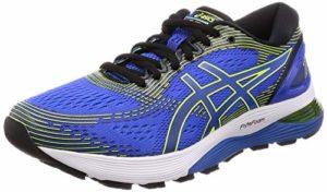 ASICS Gel-Nimbus 21, Chaussures de Running Compétition Homme, Multicolore (Illusion Blue/Black 400), 42.5 EU