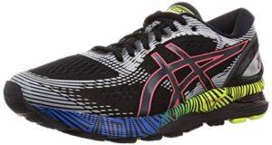 ASICS Gel-Nimbus 21 Ls, Chaussures de Running Homme, Noir (Black/Electric Blue 001), 46 EU