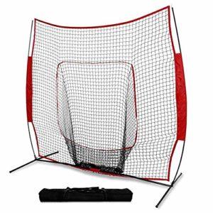Asixx Baseball Pratique Filet, Portable 7 * 7FT Intérieur Extérieur Enfants Baseball et Softball Pratique Filet avec Sac, Convient pour la Formation des Enfants