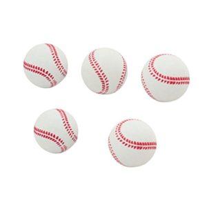 Balle de baseball rebondissante d'entraînement des débutants en caoutchouc souple pour débutants Toymytoy 6,3cm 5pièces