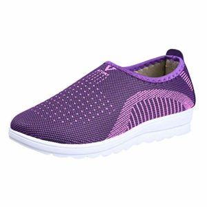 BaojunHT-Women's Sports & Outdoor Shoes , Bas Femme – Violet – Violet, 37 1/3 EU