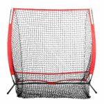 Baseball Net, Portable Practice Net 5 * 5FT Enfants Baseball Practising Net Kid Training Equipment Sports Net pour Indoor/Outdoor