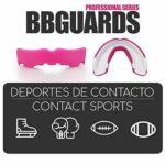 BBGuards Protège-Dents Professionnel Encía – Sport de Contact, Boxe, Rugby, MMA, Arts Martiaux, Hockey, Jiu Jitsu. Taille Unique Rose – Blanc