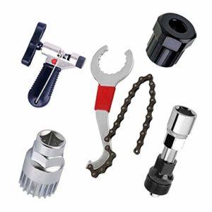 BeiLan Kits d'outils de réparation pour vélo de Montagne et vélo, chaîne de vélo, Support, Roue Libre, Outil de détachant de manivelle, Outil de Maintenance pour vélo,Outil séparateur de chaîne