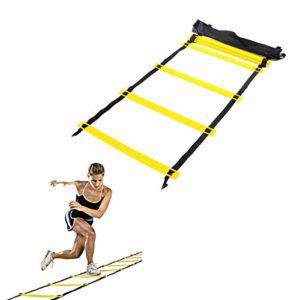 Beofine Agilité Ladder Formation Échelle De Formation Ladder De Vitesse (12 Pieds 8 Rung) Entraînements Power Equipment pour Le Football Football Tennis pour Sport
