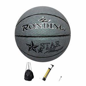 BESPORTBLE 1 Set de Basket-Ball de Sport Lumineux Ballon de Basket-Ball Lumineux avec Sac Et Goupille de Gaz de Gonfleur pour La Formation de Nuit en Plein Air pour Adultes