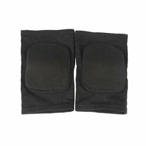 BESPORTBLE 2 Pcs Éponge Genou Bretelles De Protection Genou Support Wraps Épais Exercice Genou Gardes Sécurité Genou Protecteurs pour Basket-Ball Escalade Formation (Taille L Noir)