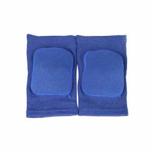 BESPORTBLE 2 Pcs Éponge Genou Bretelles Protection Genou Soutien Enveloppes Épais Exercice Genouillères Sécurité Genoux Protecteurs pour Basket-Ball Escalade Formation (Taille L Bleu)