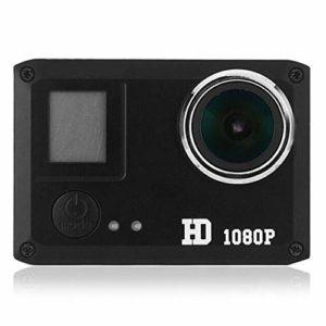 BESTSOON Caméras d'action HD 720P Sport DV 1,77 Pouces LCD Moniteur Caméra d'action intégrée Li-ION Rechargeable (Couleur : Noir, Taille : Taille Unique)